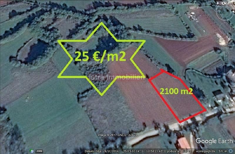 Barban građevinsko zemljište 2100 m2 POVOLJNO