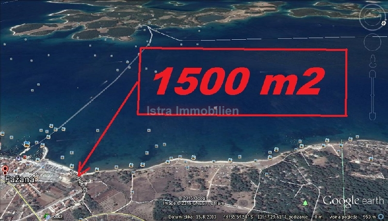 Fažana građevinsko zemljište 100m od mora