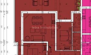 Medulin stan na 1. katu, 91 m2, pogled na more
