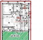 Pula stan 50 m2 u prizemlju s vrtom